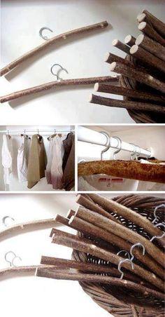 Serchas de palos de madera. Reciclaje total