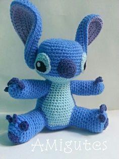 Nadie puede resistirse al patrón de Stitch!!  #crochet #patron #gratis #amigurumi