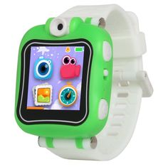 Kids Smart Watch Camera Video New Learning Education Game Electronic Smartwatch Kids Toys Gifts for Children (Green). Camera Video:Wearable and movable Camera is able to be easily por- table to capture and Photography any beautiful moment anytime and anywhere. 90° rotatable design for convenient photograph and selfie. All of children can be professional recorders and detector of their daily life,15 different photo frames as good choices, let the photos be more interesting. Built-in Alarm...
