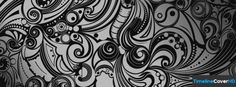 Black And White Swirl Doodles Facebook Cover Timeline Banner For Fb70 Facebook Cover