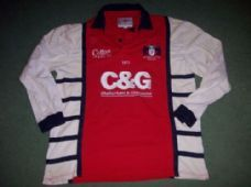 3187bfa0ccb Gloucester 2005 2007 Home L/s Rugby Union Shirt Adults Large Top Jersey  Gloucester Rugby
