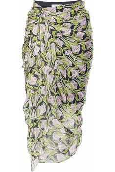 Jason Wu Floral-print silk-chiffon skirt   #Resort