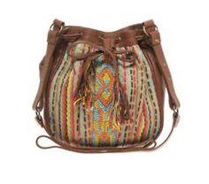 Aztec patterned bag