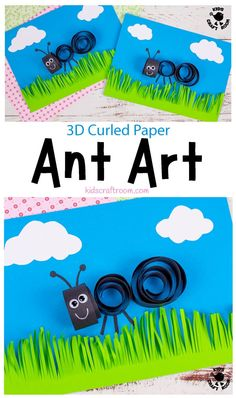 How cute is this 3D Curled Paper Ant Craft? It's a great way to introduce kids to quilling. It's a lovely ant art idea to use as a Summer Camp craft and it's fun for insect fans all year round. #kidscraftroom #kidscrafts #kidsart #quilling #ants #summercampcrafts #summercrafts Summer Crafts For Kids, Summer Activities For Kids, Summer Art, Art For Kids, Ant Crafts, Insect Crafts, Ocean Crafts, Beach Crafts, Ant Art