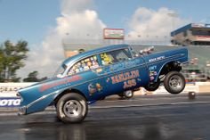 Chevrolet drag racing | Larry King's '56 Chevy goes skyward in NC action!