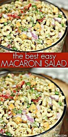 This Easy Macaroni Salad recipe is the perfect side dish to bring to Summer BBQ'. - This Easy Macaroni Salad recipe is the perfect side dish to bring to Summer BBQ's, parties and mo - Best Pasta Salad, Easy Pasta Salad Recipe, Summer Pasta Salad, Pasta Salad Italian, Summer Salads, Easy Macaroni Salad, Barbecue, Potluck Recipes, Soup Recipes