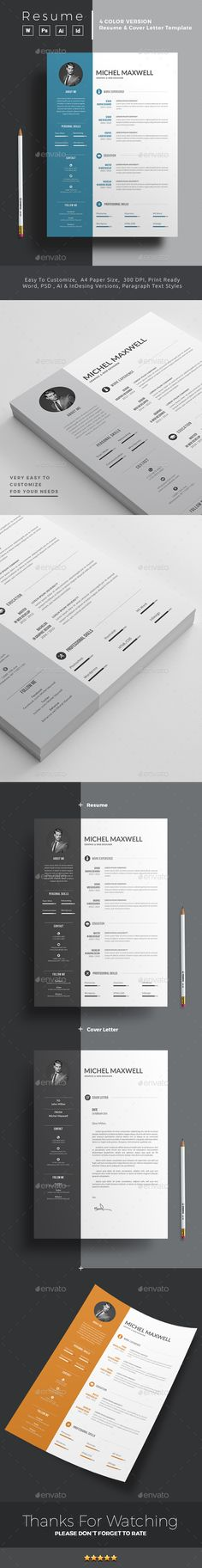 Resume Stationery, Ai illustrator and Print templates - subway resume
