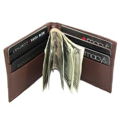 0f4aef364 Men's Lambskin Leather Spring Money Clip Compact Bifold Front Pocket Wallet  #Bifold Front Pocket Wallet