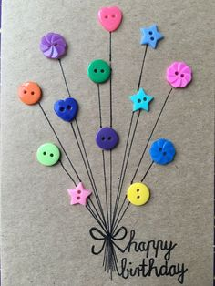 carte d& - Karten - Hobbies And Crafts, Diy And Crafts, Craft Projects, Crafts For Kids, Craft Gifts, Diy Gifts, Handmade Gifts, Homemade Birthday Cards, Homemade Cards