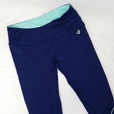 3859c9518378 ShoActive Capri Leggings Sz M Athletic Yoga Navy Blue Medium Workout Gym  Womens