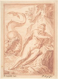 Andromeda, after Agostino Carracci - Pieter Tanjé (metmuseum)