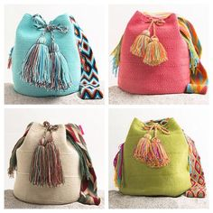 """New Cheap Bags. The location where building and construction meets style, beaded crochet is the act of using beads to decorate crocheted products. """"Crochet"""" is derived fro Tapestry Bag, Tapestry Crochet, Crochet Handbags, Crochet Purses, Crochet Bags, Mochila Crochet, Crochet Backpack, Diy Accessoires, Crochet Shell Stitch"""