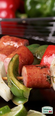 Want to liven up your next BBQ with a tasty summer twist? Try making some Fajita Turkey Pepper Jack Kabobs featuring Hillshire Farm® Smoked Sausage! You can find this recipe and more BBQ tips here.