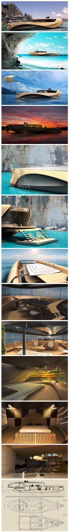 Futuristic Cronos Yacht concept | Justearnmoneyonline.com