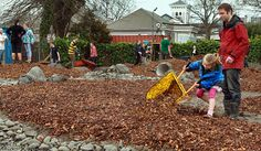 NEW SPOT: Beca employee Paul Roper-Gee with his daughter Isla, help build Christchurch's new nature play area.
