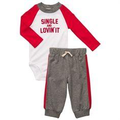 Carter's® Infant Boy Single and Lovin it Set #VonMaur #Carters #ValentinesOutfit