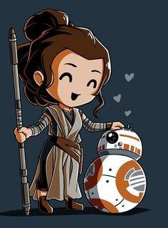 Bbffs t-shirt star wars teeturtle Rey Star Wars, Star Wars Fan Art, Star Wars Film, Star Wars Trivia, Star Wars Facts, Star Wars Karikatur, Tableau Star Wars, Star Wars Zeichnungen, Star Wars Cartoon