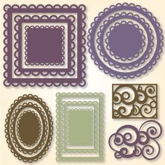 Nested Lacey Shapes -- Tons of free stuff on the site... I mean A Lot to choose from