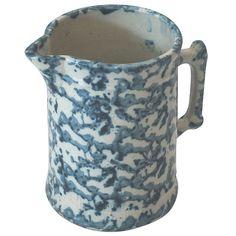 19th Century Spongeware Milk Pitcher