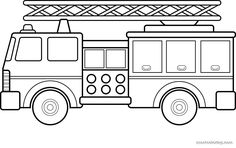Free Fire Truck Coloring Pages Printable for Kids