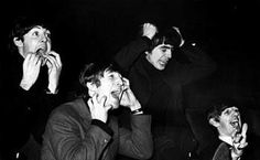 LOL! The Beatles mocking Beatlemania. Such a great sense of humor those Fab Four had.
