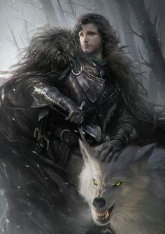 Jon Snow & Ghost   G-host Lee