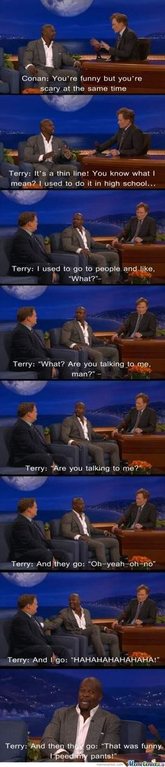 Terry Crews is hilarious! Laugh A Lot, I Love To Laugh, Terry Crews, Top Memes, Laughing So Hard, Man Humor, Best Funny Pictures, Good Times, I Laughed