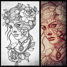 Tattoo Artwork by Liz Hapi