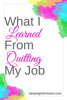 Lessons learned from quitting my well-paying job (to blog full time, with two kids at home!)