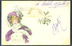 QR107 VIENNE Style Portrait de FEMME au CHAPEAU FASHION HAT LADY 1901