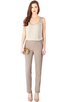 neutrals+gold// summer work attire for the stylish!
