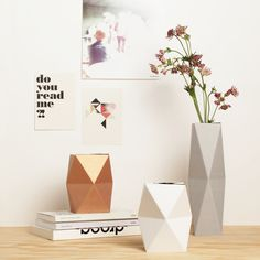 snug.: snug.vase  newest snug.product!! Fold your geometric vase and combine it with a small glass of water or a small bottle!