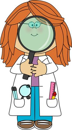 Kid Scientist and Giant Magnifying Glass