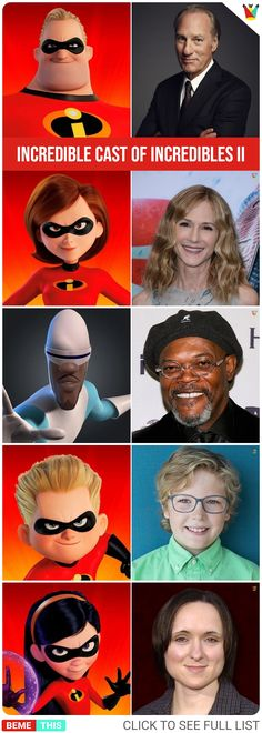 meet the voice cast of incredibles 2