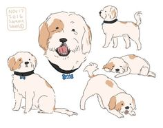 commission for / Cute Animal Drawings, Animal Sketches, Cute Drawings, Art Sketches, Dog Art, Drawing Reference, Doodle Art, Cute Art, Art Inspo