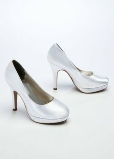 9ffda9c40f This high heel platform pump is the definition of understated and elegant  style! Fully lined. Dyeable shoes are sold in White as shown. About Dyeable  Shoes.