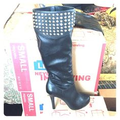BCBGeneration Black Studded Boots. Great condition boots. Only been worn a couple of times. BCBGeneration Shoes