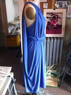 New look alert! #chrysaliscardi as a grecian dress. side view.