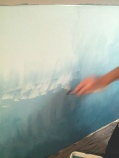 45 Fabulous Ombre Wall Paint Designs Ideas - Home is the place which gives you feeling of warmth and comfort after a long tiring day. The wall paint colors can make your home look elegant or funk. Diy Wall Painting, Faux Painting, Diy Wall Art, House Painting, Bedroom Murals, Wall Murals, Ombre Painted Walls, Watercolor Wall, Diy Ombre