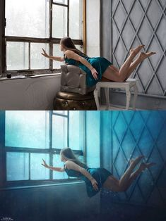 Before and after Photoshop images - 21 Now YOU Can Create Mind-Blowing Artistic Images With Top Secret Photography Tutorials With Step-By-Step Instructions! Levitation Photography, Photoshop Photography, Photography Tutorials, Creative Photography, Digital Photography, Photography Poses, Photography Composition, Concept Photography, Surrealism Photography