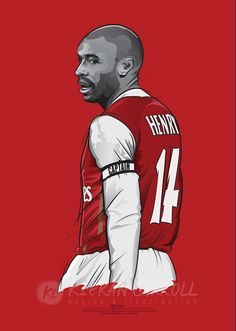 Thierry Henry Arsenal 14 Poster Art by KieranCarrollDesign