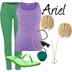 Ariel, created by sydney-emerson on Polyvore. Awesome!!!!!!!