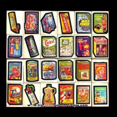 """""""Wacky Packages""""! Used to plaster these trading card stickers over everything!"""