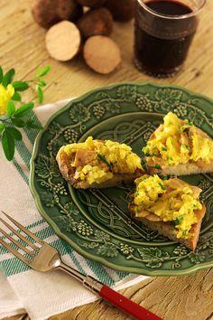 Ovos mexidos com túberas