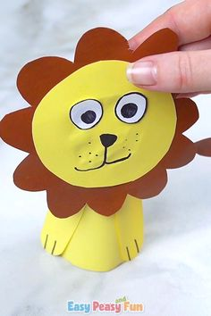 Today we are showing you how to make a paper roll lion craft for kids. Hope you have your stash of paper rolls ready. # Paper Roll Lion Craft – Toilet Paper Roll Crafts for Kids Green Crafts For Kids, Paper Crafts For Kids, Easter Crafts, Paper Crafting, Diy For Kids, Fun Crafts, Arts And Crafts, Paper Animal Crafts, Wood Crafts