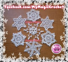 Crochet Snowflakes ornaments https://www.etsy.com/your/shops/MyMagicCrochetUS