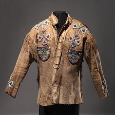 Cree Beaded Moose Hide Jacket (4/04/2014 - American Indian Art: Live Salesroom Auction)