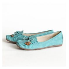 Balboa Boulevard Loafers in Light Teal