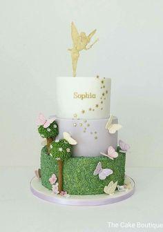 Beautiful Image of Fairy Birthday Cake . Fairy Birthday Cake Fairies Theme Butterfly Cake Birthday Cake For Girls Fairy Tinkerbell Birthday Cakes, Garden Birthday Cake, Fairy Birthday Party, Cool Birthday Cakes, Birthday Cake Girls, Tinkerbell Party, Birthday Parties, Birthday Cakes For Girls, 5th Birthday