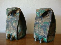 metal owl bookends via ebay-- love these